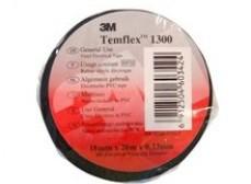 7100080345 Temflex 1300, синяя, универсальная изоляционная лента, 19мм х 20м х 0,13мм