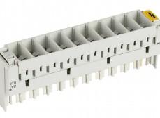 6089 2 023-01 Магазин защиты 10 пар 2/10, для 3-х полюсных разрядников, неоснащенный