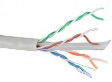 LC1-C604-111 ITK Кабель связи витая пара U/UTP, кат.6 4х2х23AWG solid, PVC, 305м, серый