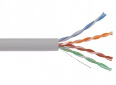 LC1-C5E04-111 ITK Кабель связи витая пара U/UTP, кат.5E 4х2х24AWG solid, PVC, 305м, серый