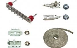 Монтажные материалы для работы с электрическими кабелями связи