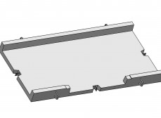 Лоток экранированный разветвительный большой на 3 направления (ЛЭРБ-3)