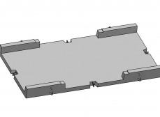Лоток экранированный разветвительный большой на 4 направления (ЛЭРБ-4)