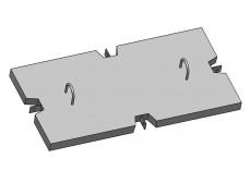 Крышка экранированная универсальная для разветвительных лотков (КЭУ)