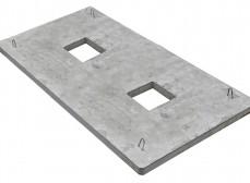 Плита ПЯП-ОД-2,5х1,6 якорная прямоугольная с отверстием дренажным