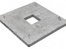 Плита ПЯП-ОД-1,6х1,6 якорная прямоугольная с отверстием дренажным