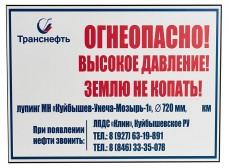 Табличка ПВХ односторонняя, 300х400х2мм