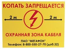 Табличка ПВХ односторонняя, 300х400х5мм
